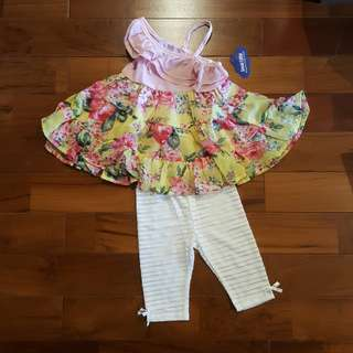 GW flower top set legging