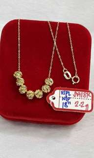 Pure gold necklace