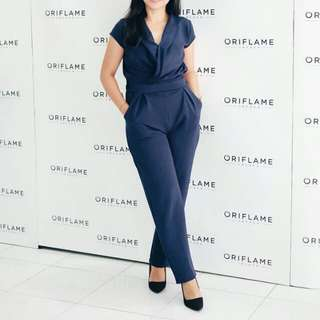 long jumpsuit navy/ jumpsuit panjang