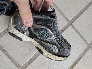 Sketcher baby shoe
