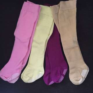 4pcs Legging Bayi Polos