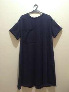 Plus Size Navy Blue Dress