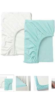 Baby cots fitted sheet / cadar 2 pcs