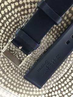 Brand New 20mm Dark Blue Hirsch Rubber Strap for Rolex!