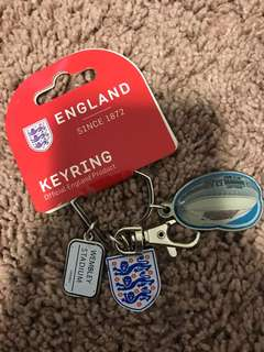 England Wembley stadium key ring