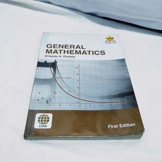 General Mathematics shs book