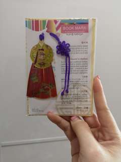 Hanbok Bookmark from Korea