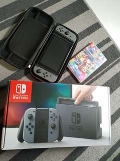 Nintendo Switch Grey bundle with game