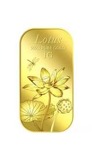 999 1g PureGold- Lotus