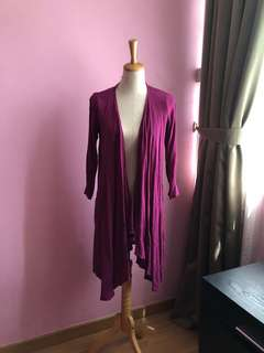 Long purple cardigan