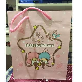 little twin stars 靚靚粉紅色紙袋