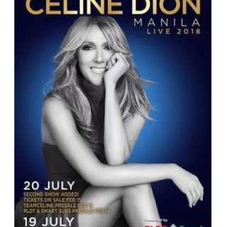 B> Looking for Celine Dion GA Ticket