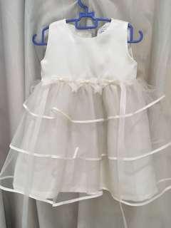 Baby Dress/ ivory white/ age 1
