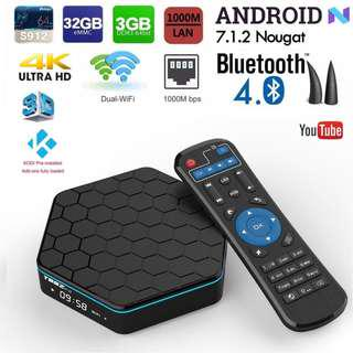 T95Z Plus 3GB 32GB Android 7.1 Nougat Smart TV Box (Pre-installed Malaysian Apps & KODI 17.4)