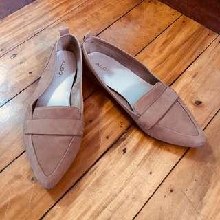Aldo Beige Moccasin Shoes