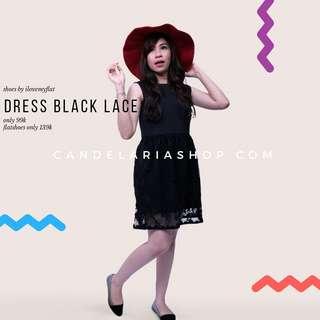 Dress black brukat
