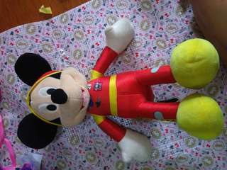 Mickey Mouse roadster racer stuffed toy