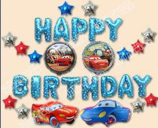 Happy Birthday Party Decoration set - Cars 🚗