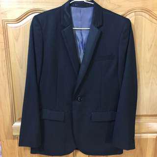 🚚 澳洲品牌Fred Bracks Boyswear 黑色西裝外套 合身款