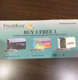 FreshKon Cosmetic Contact Lenses Voucher