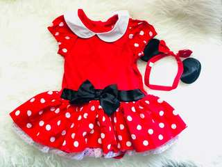 Disney Minnie mouse dress with headband