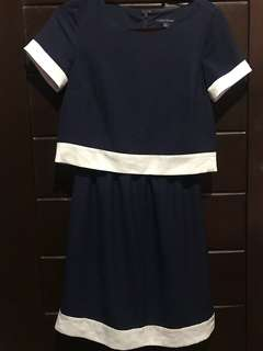 Authentic Tommy Hilfiger Blue and White Dress
