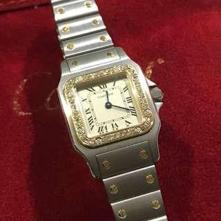 Cartier Santos 47735 diamond Ladies Vintage Excellent Condition!