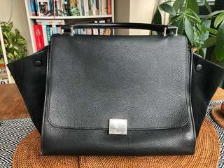 Celine Trapeze Bag - Medium Black