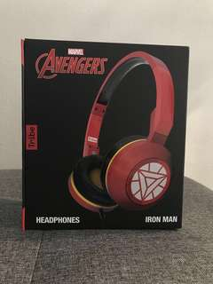 Ironman wired headphone with microphone/ headset