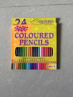 全新 24色 木顏色筆