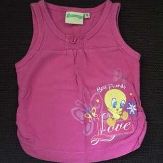 Baby Looney Pink Tanktop S