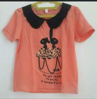 #maudecay Orange rabbit top