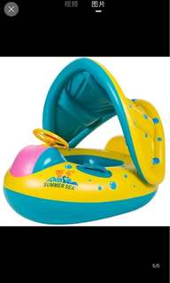 Inflatable Kids Swim Float with Canopy