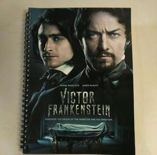 Victor Frankenstein movie collectible note book