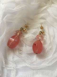 Repriced: Pink Stone Earrings
