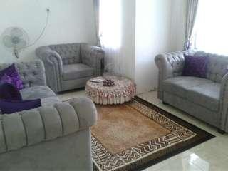 Sofa cantik abu2 minimalis 3 jt net