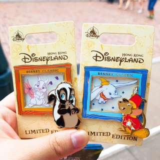 迪士尼徽章 襟章 Disney LE pin ~classic series 小飛象Dumbo miss bunny