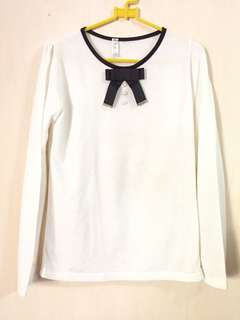 korea white sweater