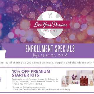LIMITED time only! 10% OFF for Young Living Premium Starter Kit