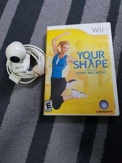 Preloved Wii Your Shape exercise game w camera