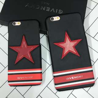 Givenchy star leather case