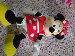Minnie Mouse stuffed toy from HK Disneyland