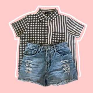 Checkered & Striped Polo