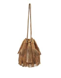 SeaFolly Tan Tassell Bucket bag