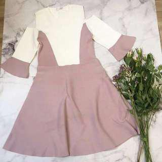 Made in Korea Pink One Piece Knitted Dress