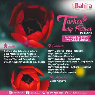 Turkey Tulip Festival @bahira.travel