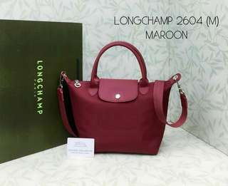 Longchamp Le Pliage Neo Maroon Color