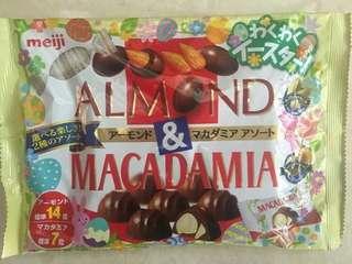 Meji Almond & Macadamia Chocolate
