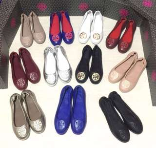 Tory burch minnie travel flat shoes