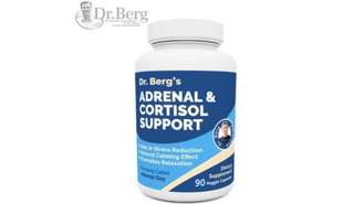 [IN-STOCK] Dr. Berg's Adrenal & Cortisol Support: Natural Stress & Anxiety Relief for a Better Mood, Focus and Relaxation; Turn Off Your Busy Mind, Vegetarian Ingredients : 90 Capsules (Adrenal Cortisol Support) - Dr. Berg Nutritionals